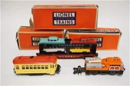 LOT OF 3 LIONEL TRAINS. #6414 AUTOMOBILE CAR, #3927