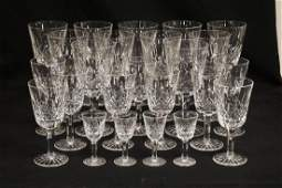 24 PIECES OF WATERFORD *LISMORE* CRYSTAL STEMWARE.