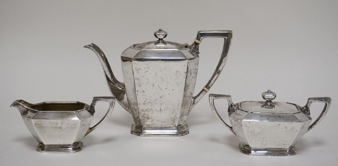GORHAM *FAIRFAX* STERLING SILVER TEA SET WEIGHING 39.06
