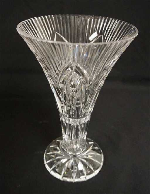 Waterford Crystal Trumpet Vase Measuring 10 Inches