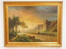 JAN MORTEL (B.1906, NETHERLANDS) LARGE OIL PAINTING ON