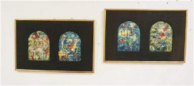 PAIR OF PRINTS OF CHAGALL STAINED GLASS WINDOWS, 2
