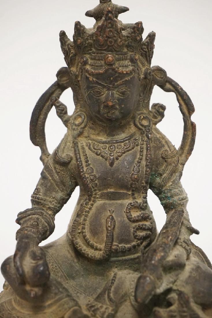 COPPER BUDDHA FIGURE MEASURING 7 7/8 INCHES HIGH. - 2