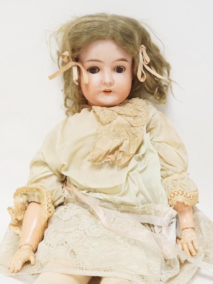QUEEN LOUISE BISQUE HEAD DOLL. 27 1/2 IN - 2