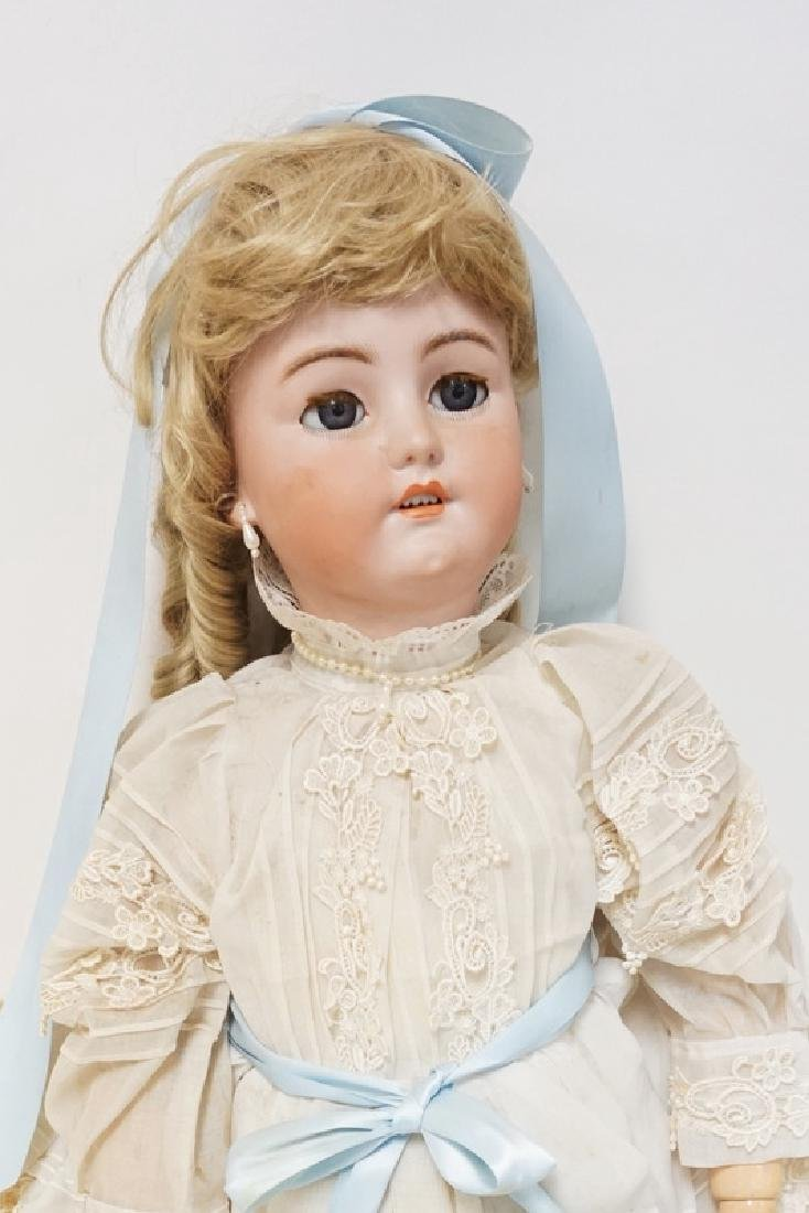 LARGE SIMON HALBIG 1078 BISQUE HEAD DOLL. 34 IN - 2