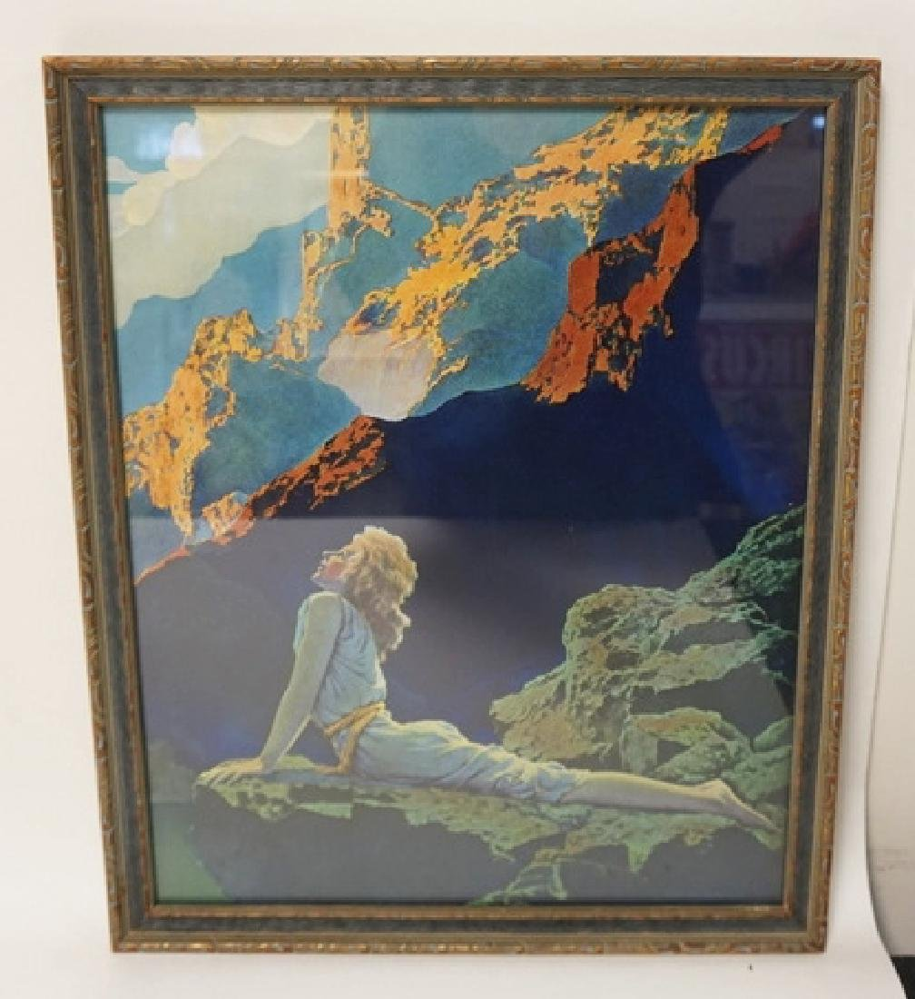 MAXFIELD PARRISH WILD GEESE. ORIGINAL PRINT AND FRAME.