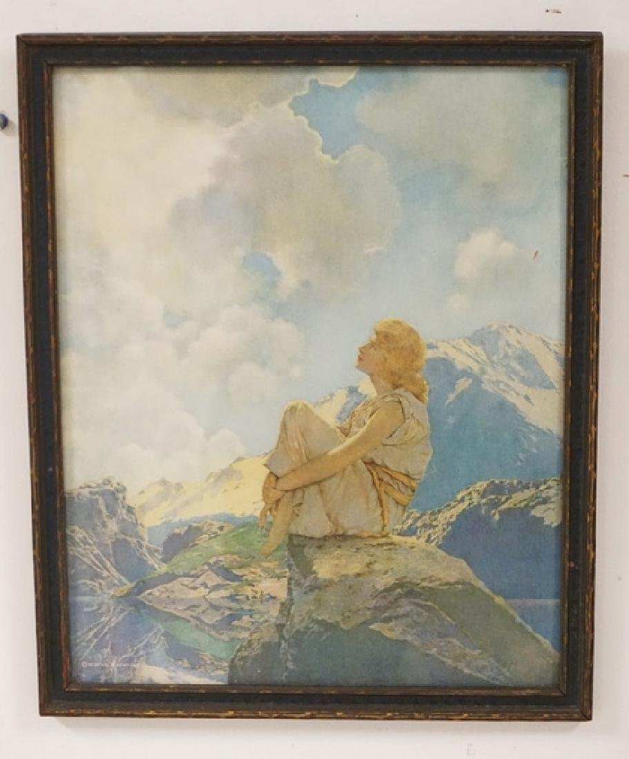 MAXFIELD PARRISH MORNING. ORIGINAL PRINT AND FRAME. 12