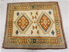 ANTIQUE HAND WOVEN ORIENTAL RUG MEASURING 4 FT 10 X 4