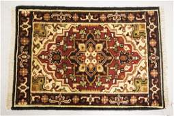 ANTIQUE HAND WOVEN ORIENTAL RUG MEASURING 2 FT X 2 FT