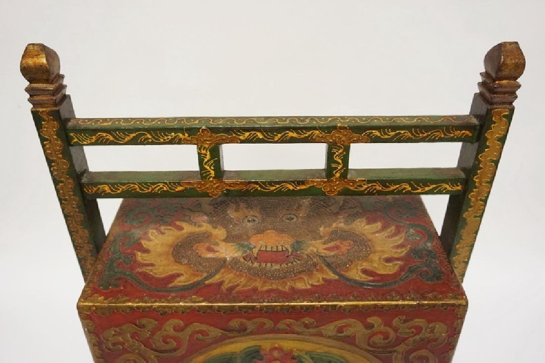 ASIAN STACKING BOX WITH FRAME. POLYCHROME DECORATED - 2