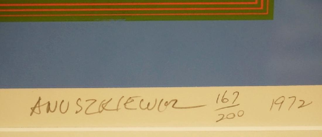 RICHARD ANUSZKIEWICZ OP ART SILKSCREEN. EDITION - 3