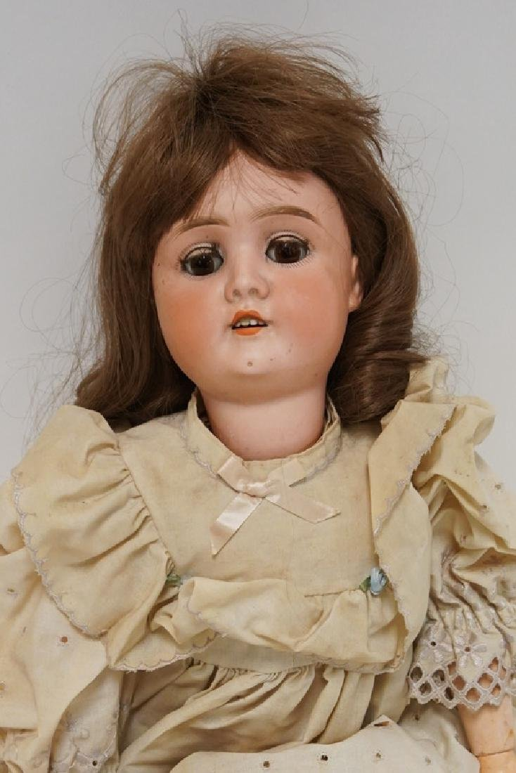 ANTIQUE GERMAN BISQUE HEADED DOLL MEASURING 25 INCHES - 2