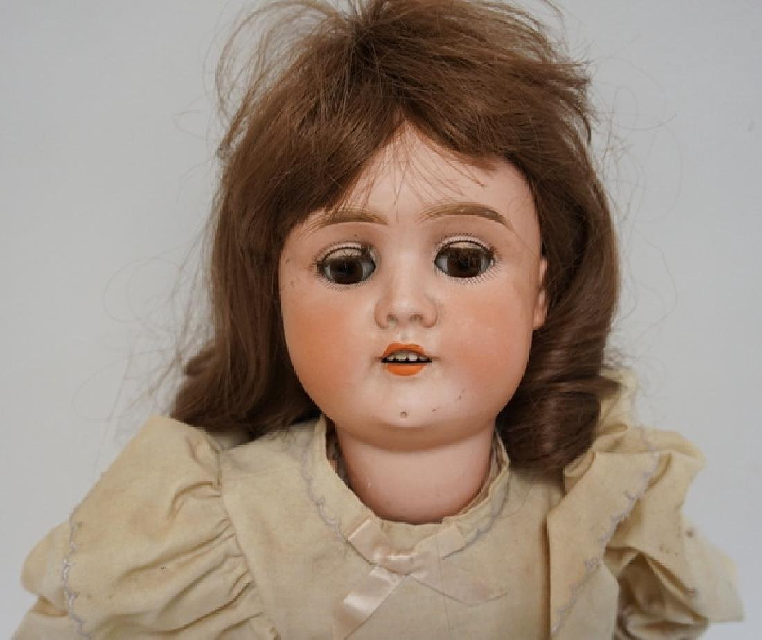ANTIQUE GERMAN BISQUE HEADED DOLL MEASURING 25 INCHES - 3