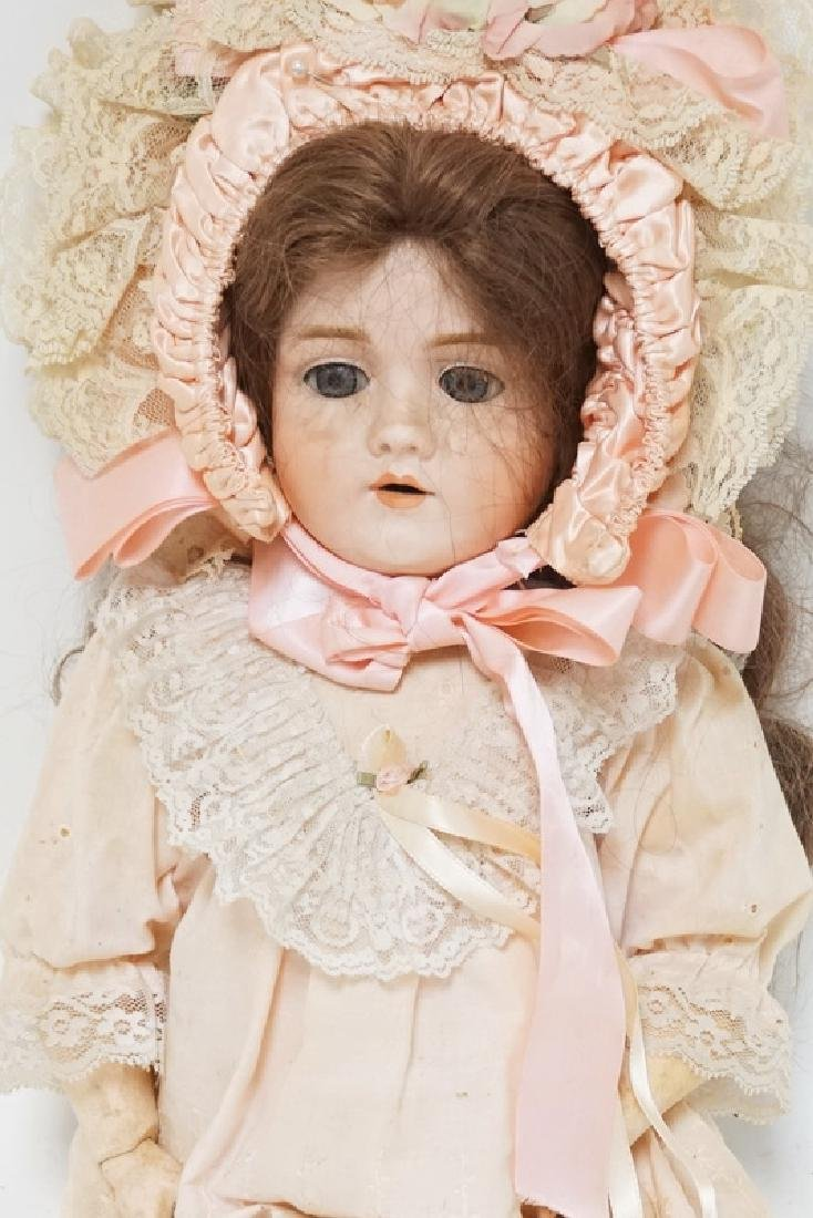 WALKURE BISQUE HEADED DOLL MESAURING 24 INCHES LONG. - 2