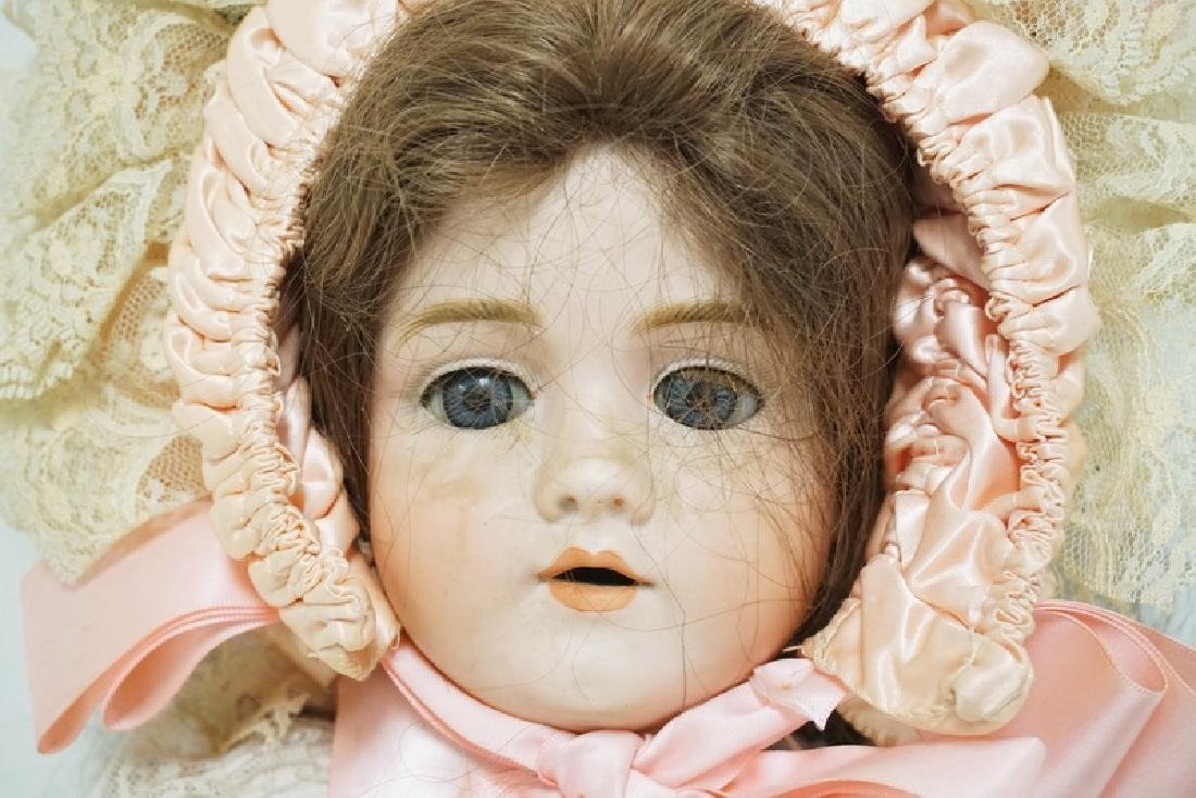 WALKURE BISQUE HEADED DOLL MESAURING 24 INCHES LONG. - 3