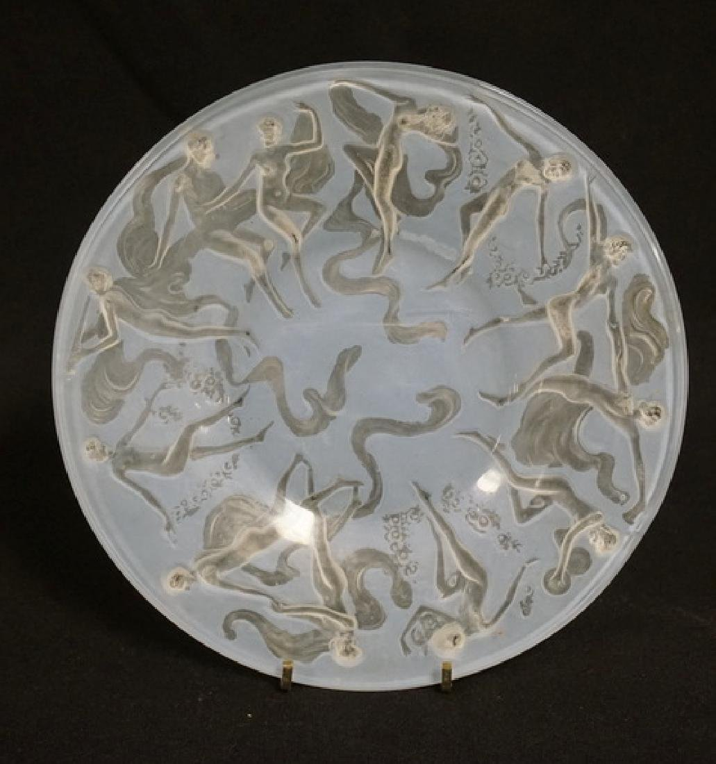 LOT OF 7 CONSOLIDATED ART GLASS *DANCING NUDES* PLATES - 2