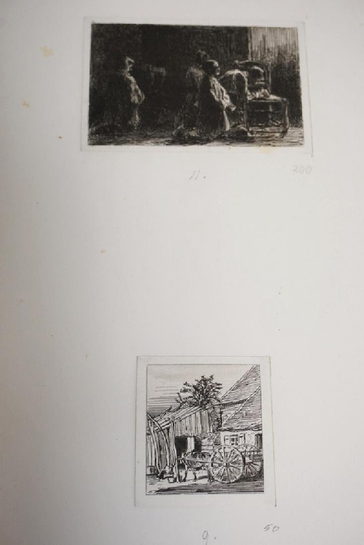 12 ETCHINGS BY CHARLES JACQUES. - 2