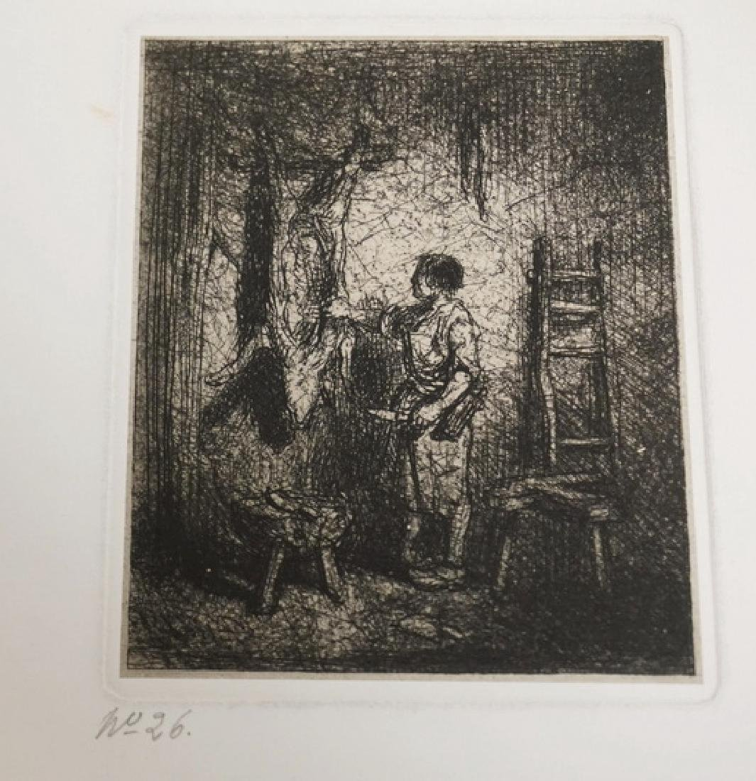 12 ETCHINGS BY CHARLES JACQUES. - 5