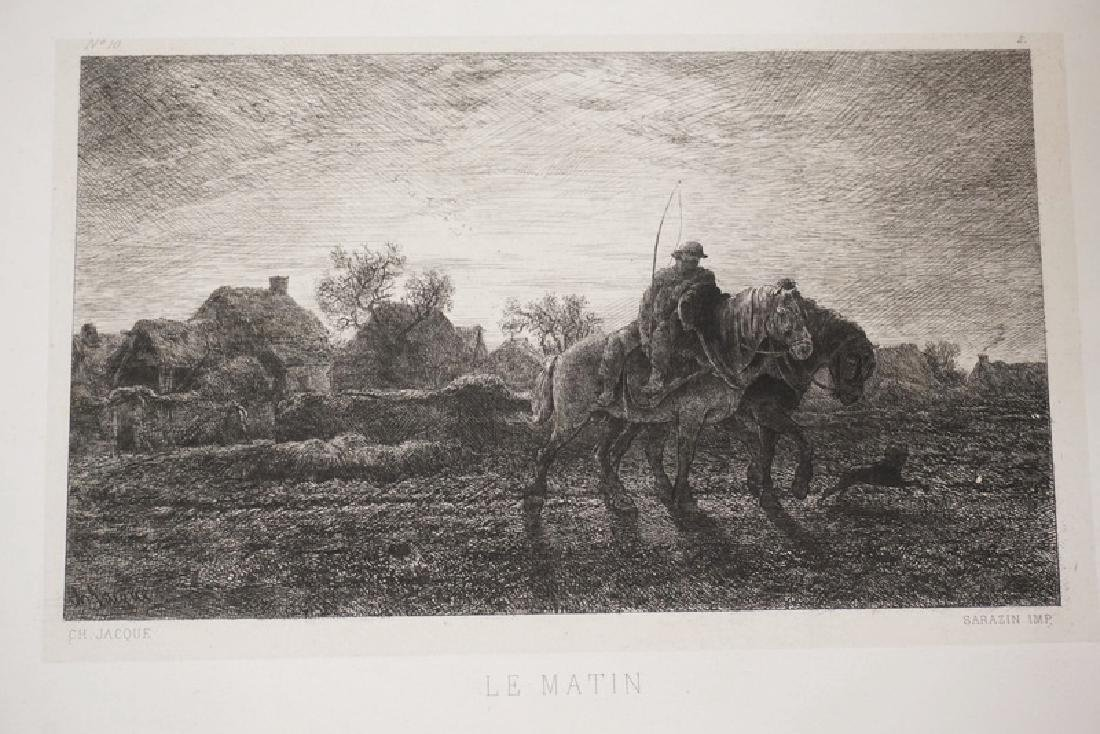 12 ETCHINGS BY CHARLES JACQUES. - 7