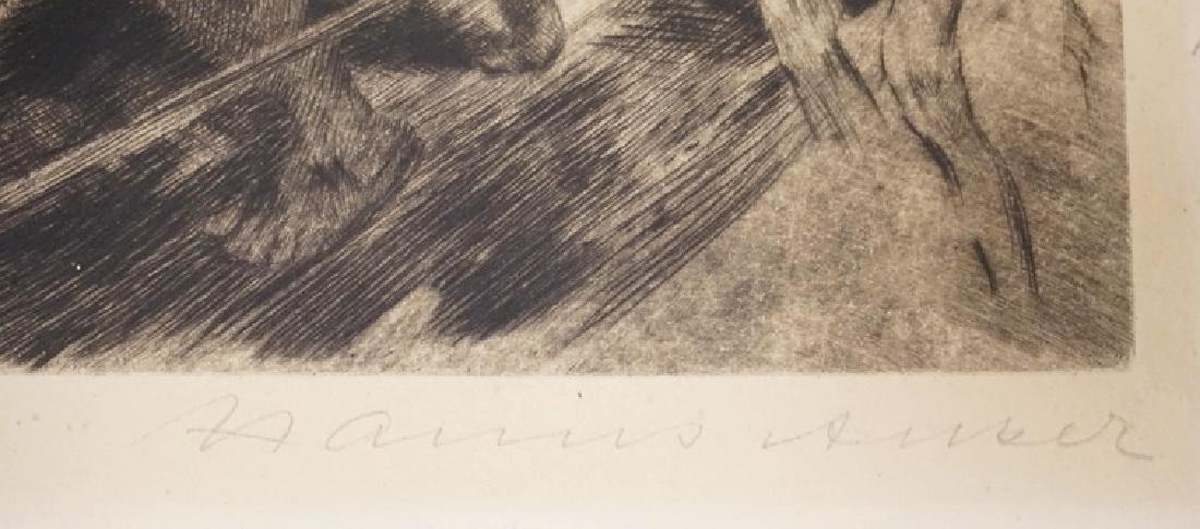 MARIUS ANKER ETCHING. 9 X 10 5/8 INCH PLATEMARK. - 3