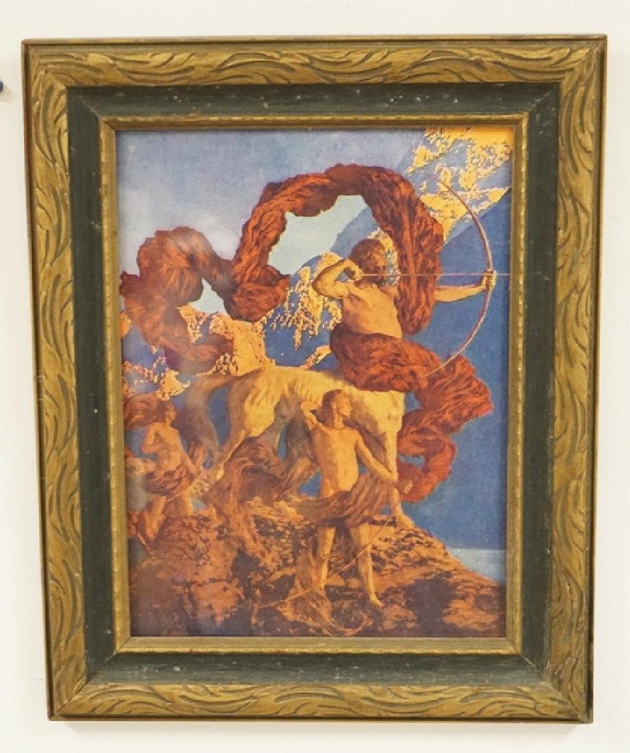 MAXFIELD PARRISH JASON AND HIS TEACHER. ORIGINAL PRINT,