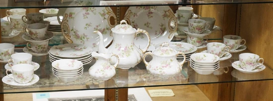 45 PC GUERIN LIMOGES TEA AND PASTRY SET. SPOUT OF