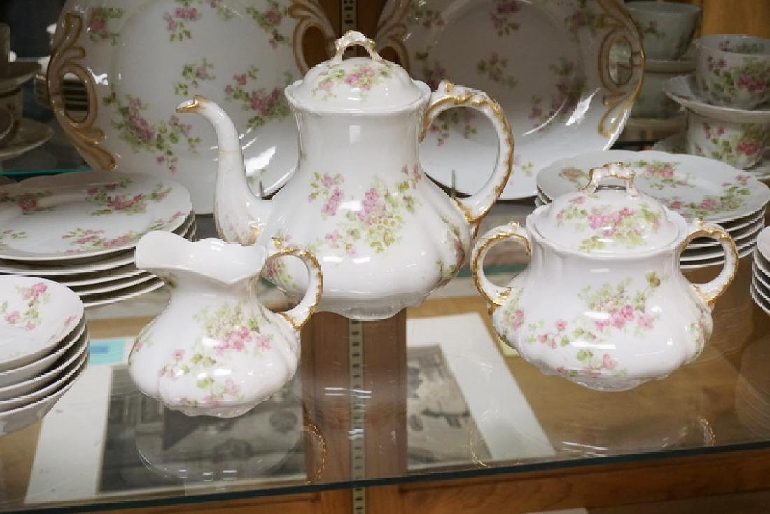 45 PC GUERIN LIMOGES TEA AND PASTRY SET. SPOUT OF - 2