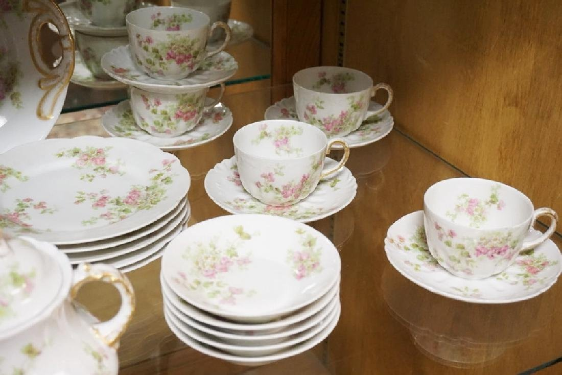 45 PC GUERIN LIMOGES TEA AND PASTRY SET. SPOUT OF - 3