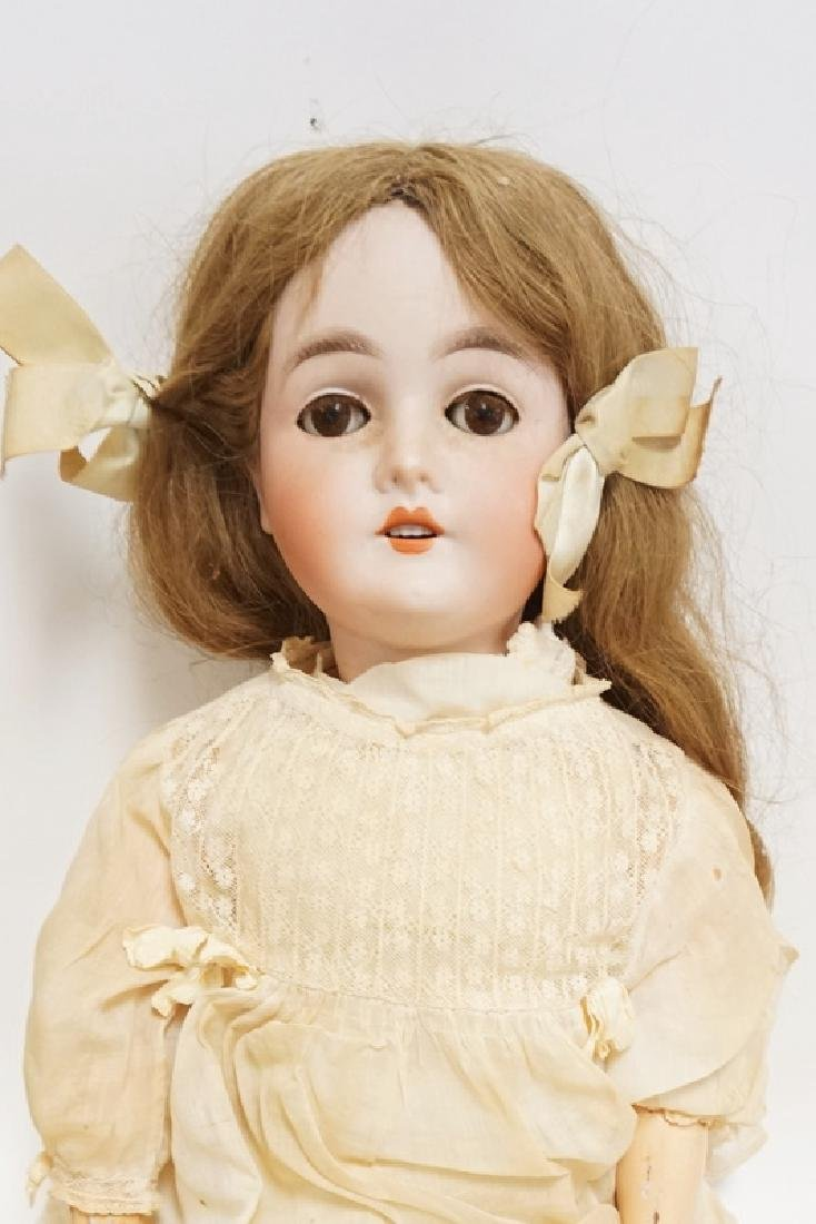 QUEEN LOUISE BISQUE HEAD DOLL. 23 IN - 2