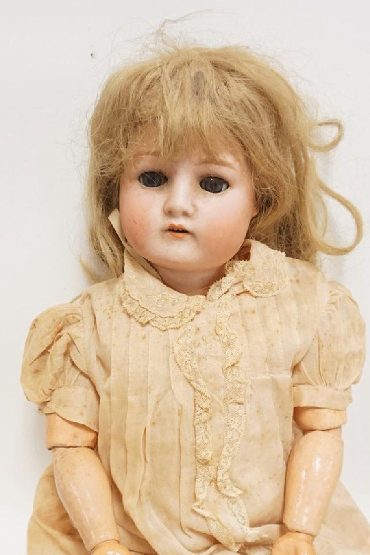 GERMAN BISQUE HEAD DOLL. 22 IN - 2