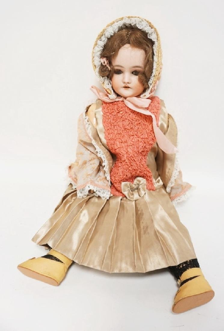 QUEEN LOUISE BISQUE HEAD DOLL 24 IN