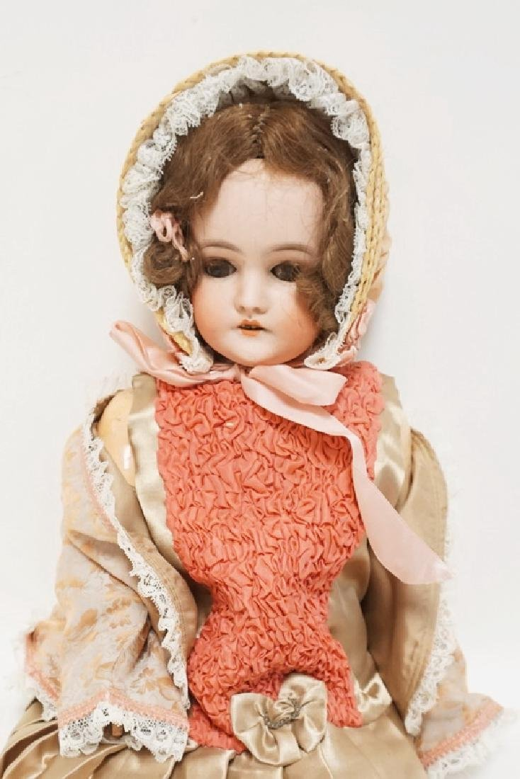 QUEEN LOUISE BISQUE HEAD DOLL 24 IN - 2