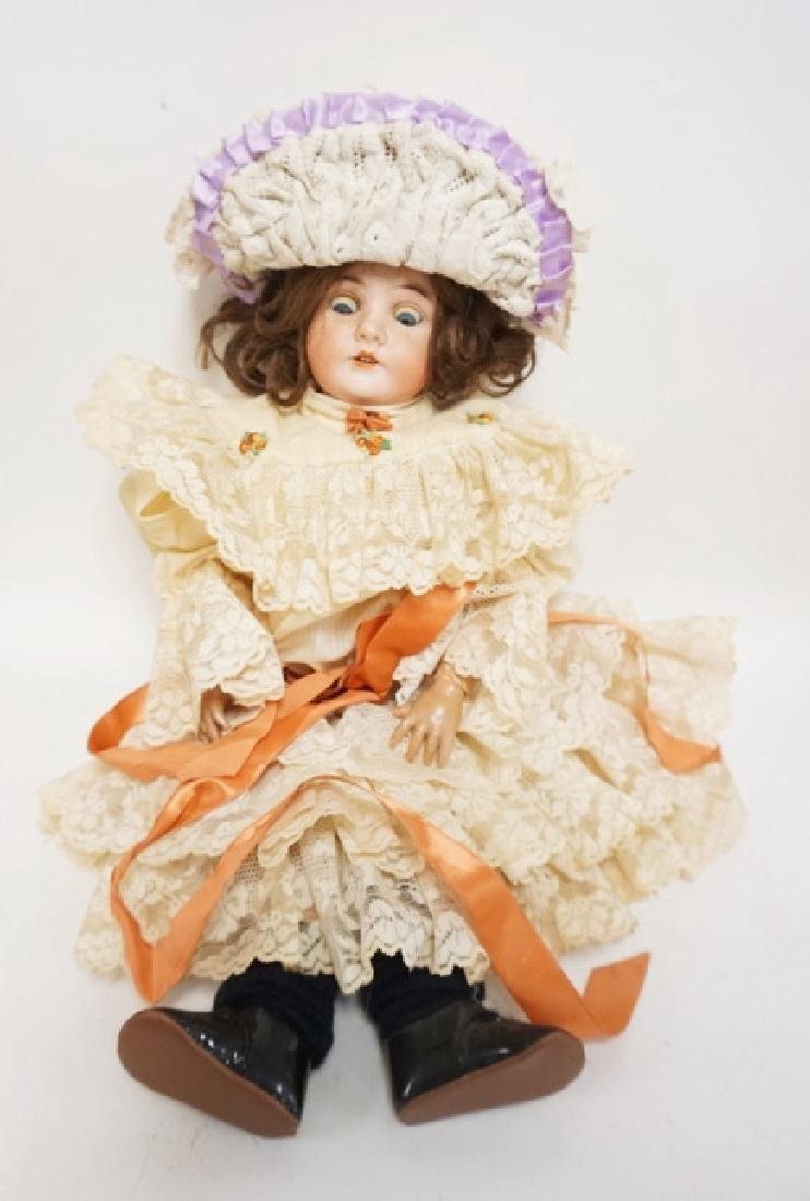 QUEEN LOUISE BISQUE HEAD DOLL 21 IN