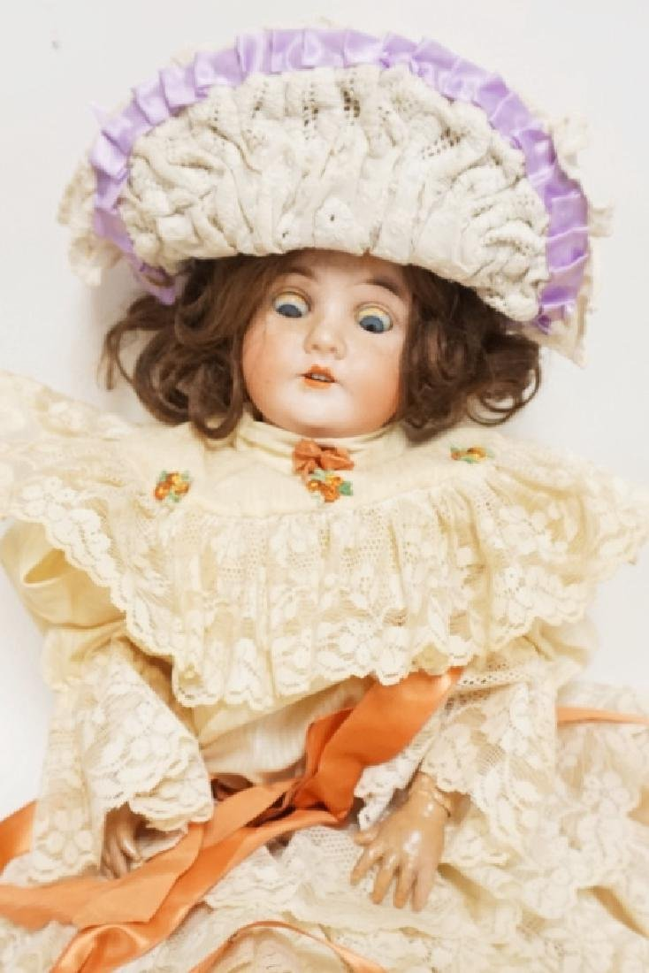 QUEEN LOUISE BISQUE HEAD DOLL 21 IN - 2