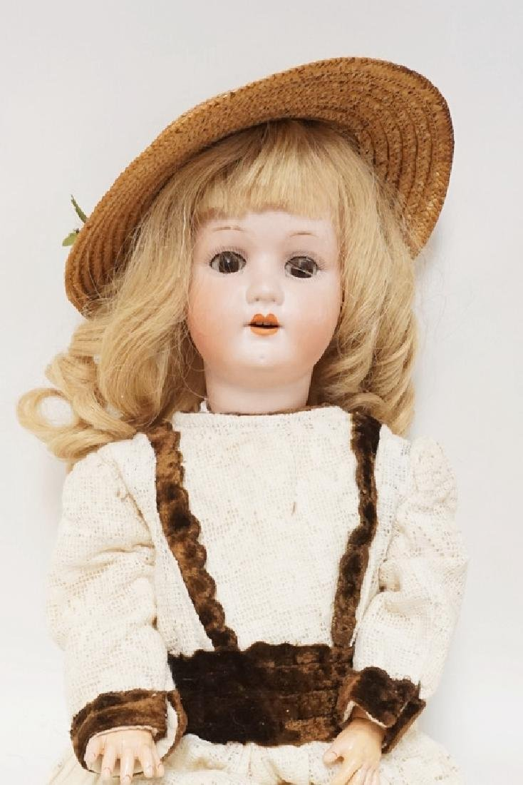 HEUBACH BISQUE HEAD DOLL. 23 IN - 2