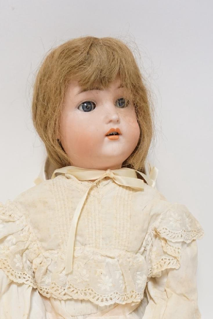 BISQUE HEAD DOLL MARKED AW W GERMANY. 23 IN - 2