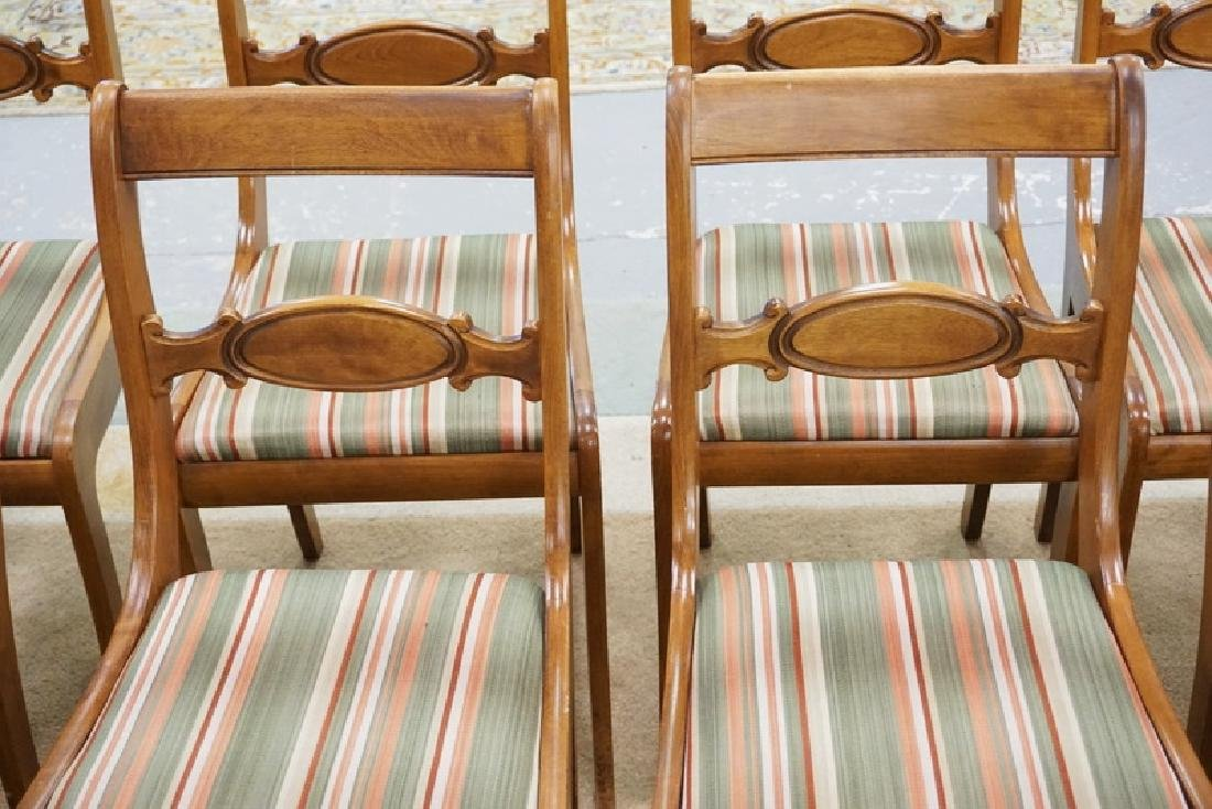 SET OF 12 TELL CITY SABRE LEG CHAIRS WITH UPHOLSTERED - 2