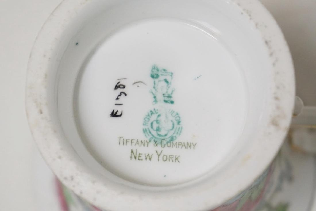 8 CUP AND SAUCER SETS. ROYAL DOULTON FOR TIFFANY & CO. - 3
