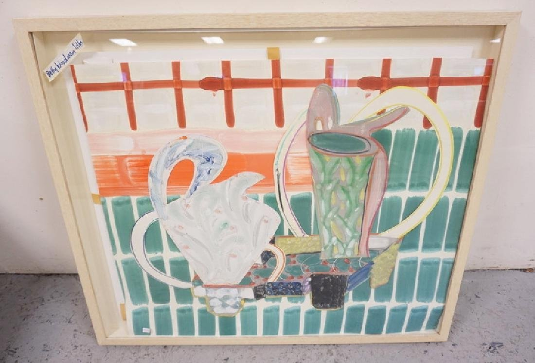 PENCIL SIGNED PRINT BY BETTY WOODMAN. 30 X 35 INCHES.