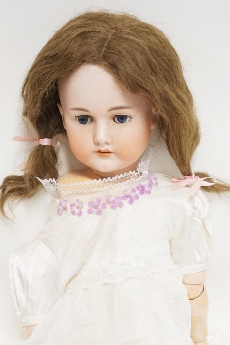 C.M. BERGMANN BISQUE HEAD DOLL. 31 INCHES LONG. - 2