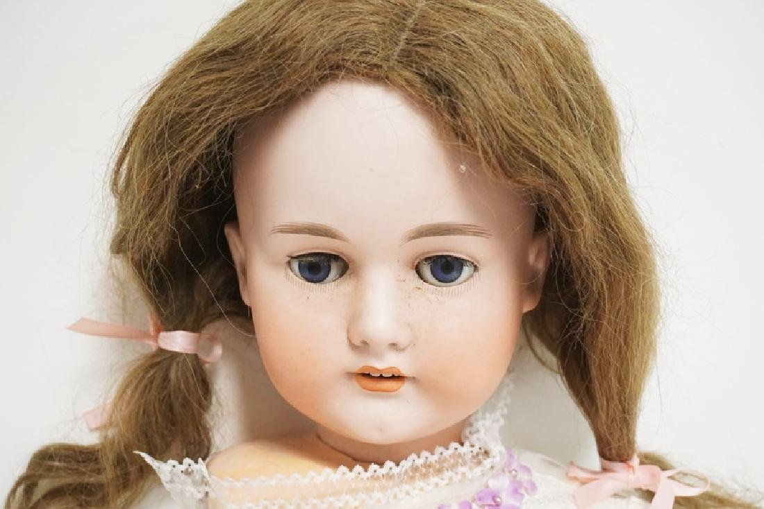 C.M. BERGMANN BISQUE HEAD DOLL. 31 INCHES LONG. - 3