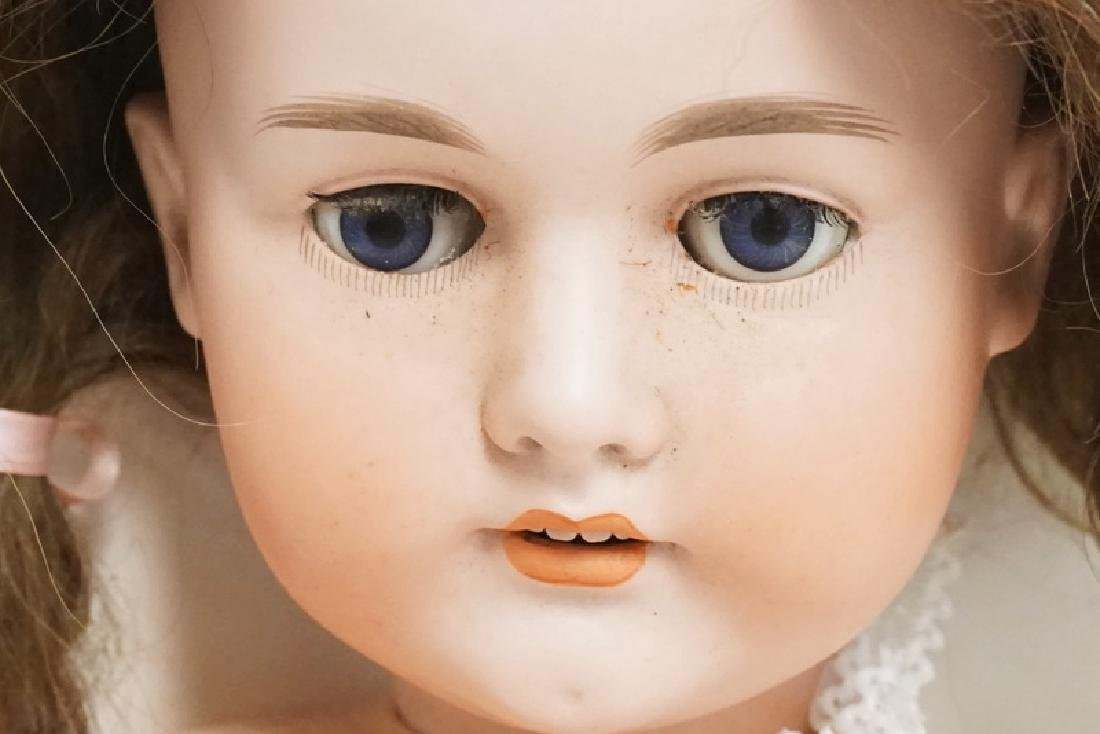 C.M. BERGMANN BISQUE HEAD DOLL. 31 INCHES LONG. - 4