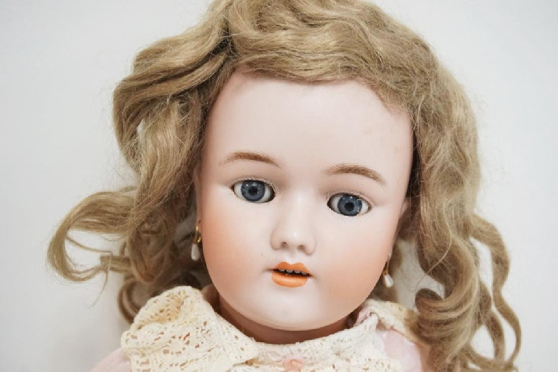 HEINRICH BISQUE HEAD DOLL MEASURING 23 INCHES LONG. - 2