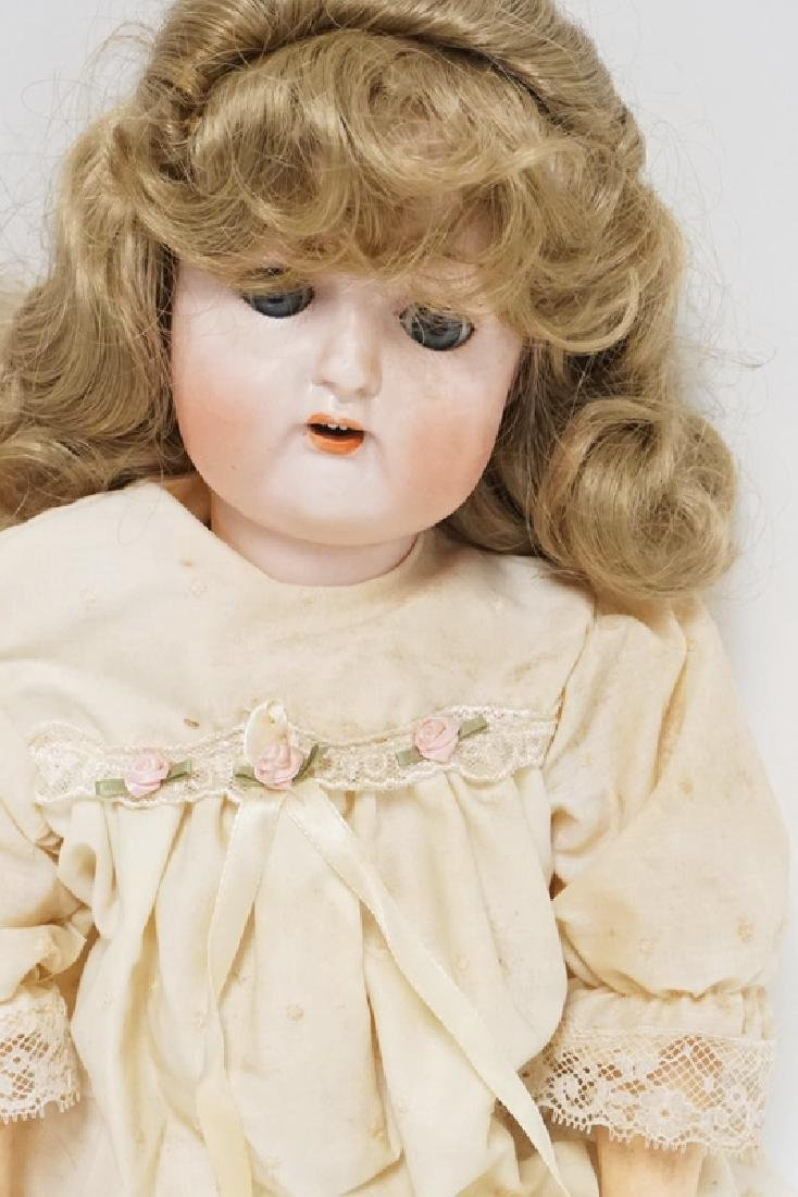 NIPPON BISQUE HEAD DOLL MEASURING 22 INCHES LONG. - 2