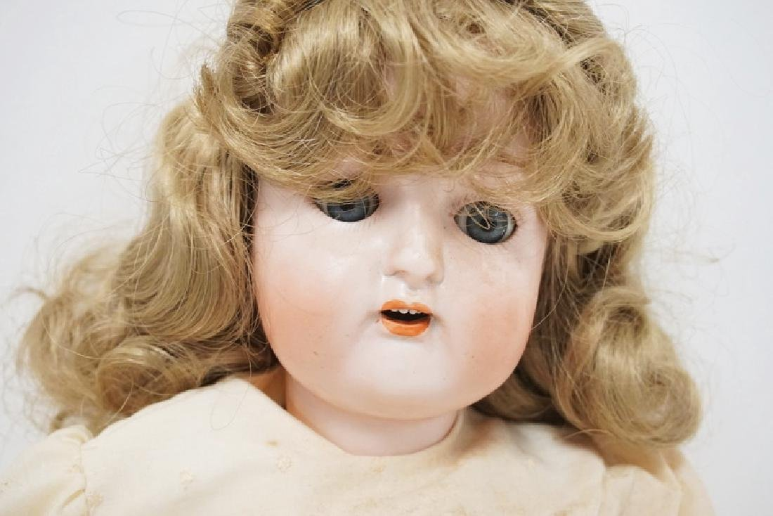 NIPPON BISQUE HEAD DOLL MEASURING 22 INCHES LONG. - 3