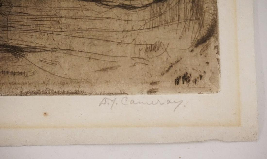 A.J. CAMERON. 3 ETCHINGS. LARGEST PLATEMARK IS 7 1/4 X - 2