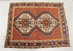 HAND WOVEN ORIENTAL RUG MEASURING 6 FT 5 X 5 FT