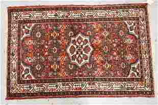 HAND WOVEN ORIENTAL RUG MEASURING 5 FT 3 INCHES X 3 FT