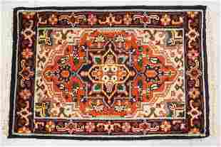 HAND WOVEN ORIENTAL RUG MEASURING 2 FT 11 X 2 FT