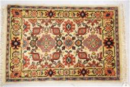 HAND WOVEN ORIENTAL RUG MEASURING 2 FT 11 INCHES X 1 FT
